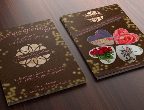 Bloem & Cadeau opening flyer